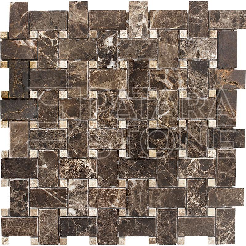 Dark Emperador Mosaics Archives Patara Stone