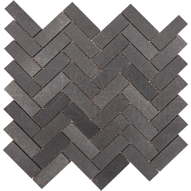 Volcano 1x3 Grande Herringbone Mosaic Patara Stone