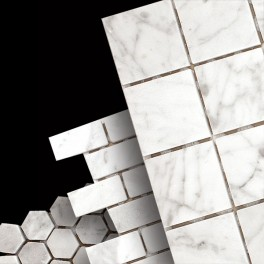 Carrara White Mosaics