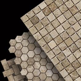 Light Emperador Mosaics
