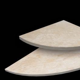 Ivory Corner Shelf & Bench