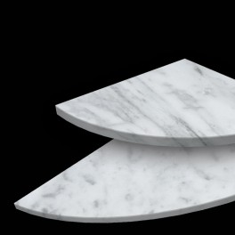 Massa Bianco Corner Shelf & Bench