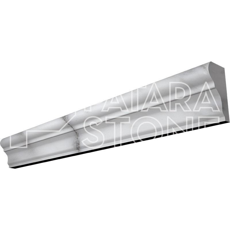 Carrara White Polished Chair Rail 2x12 Patara Stone