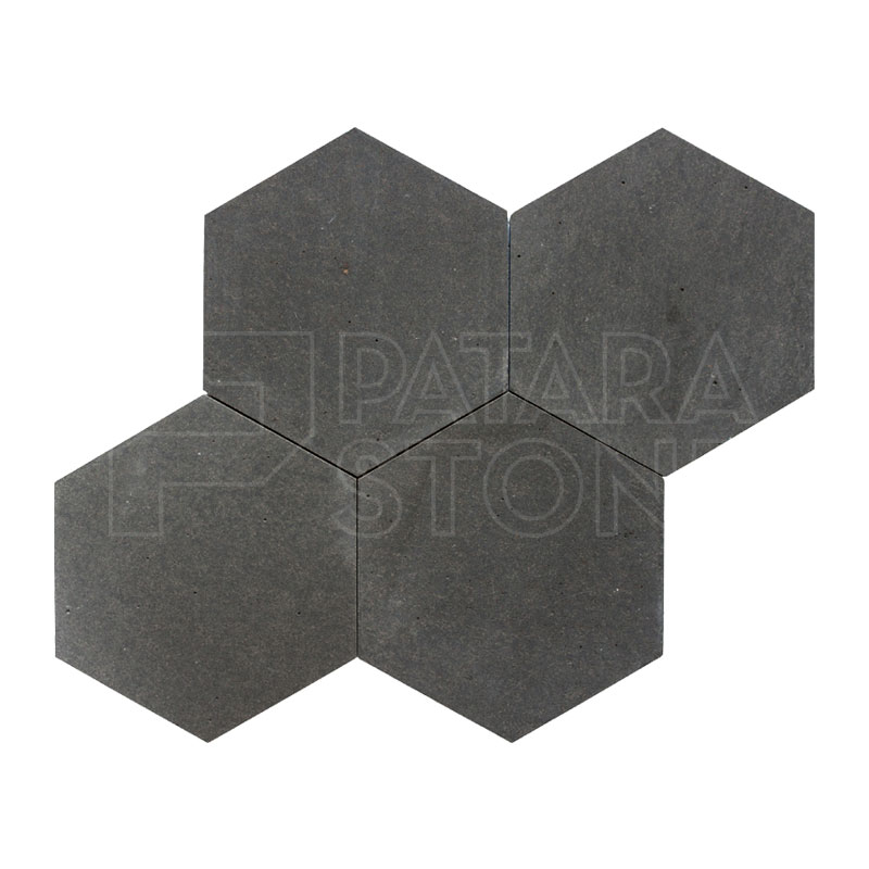Volcano Honed 6 Inch Hexagon Tile Patara Stone
