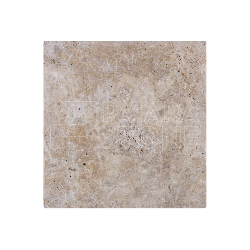 Tumbled Riverbed Walnut Beige 3: WALNUT PAVER TUMBLED 16x16x3 CM