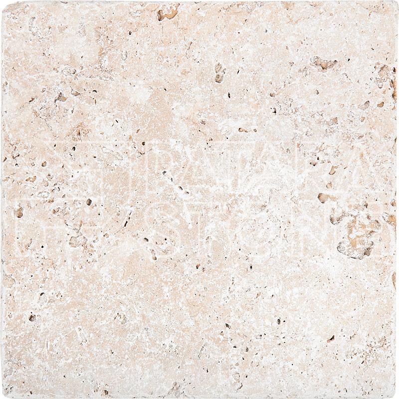 Ivory 18x18 Tumbled Patara Stone