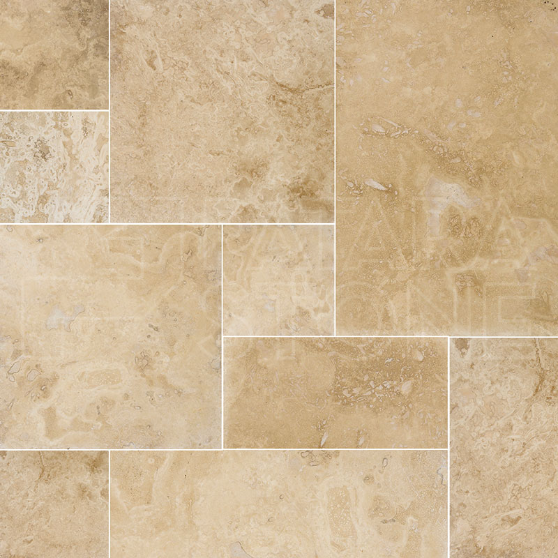 Modena Light Honed Filled French Pattern Patara Stone
