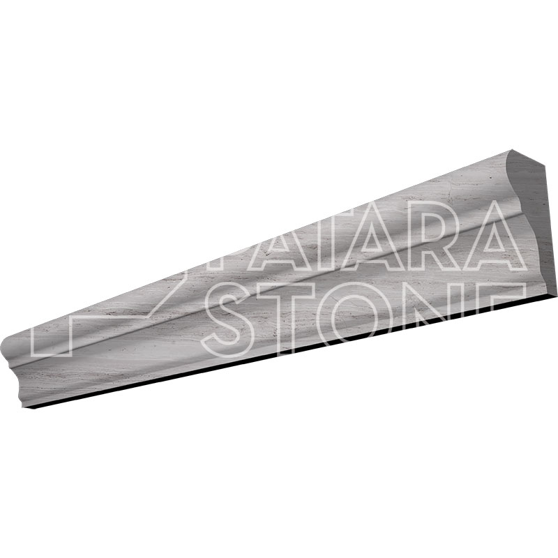 Wooden Gray Honed Chair Rail 2x12 Patara Stone