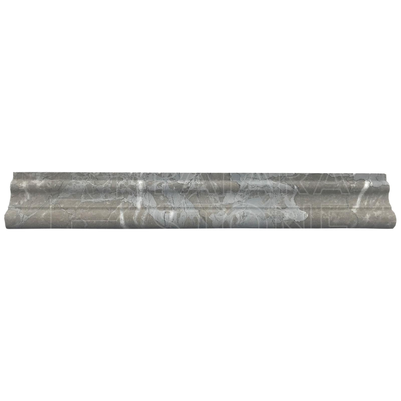 Amazon Gray Marble Honed Chair Rail 2x12 Patara Stone